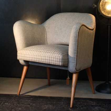 """""""Bebop"""" wool fabric armchair French design 50's"""