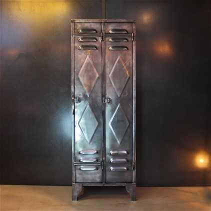 Factory locker with two doors