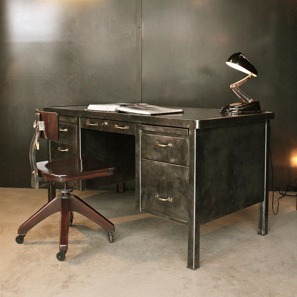 Bureau Metallique Industriel Vintage bureau strafor - mobilier industriel | les nouveaux brocanteurs
