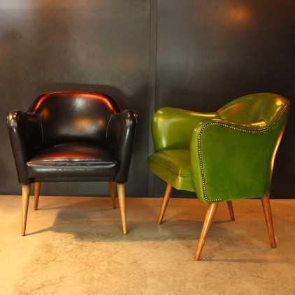 Fauteuil Bebop - Design années 50 - Vert absinthe