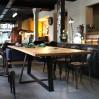 Custom industrial dining table