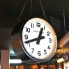 """Vintage industrial double sided """"Charvet-Delorme""""electric clock"""