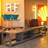Industrial furniture multi TV raw metal