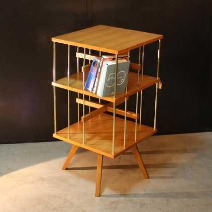 Oak revolving library 50s