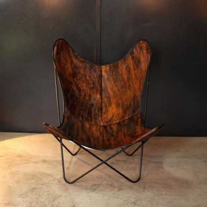 Butterfly chair AA Airborne brown cow