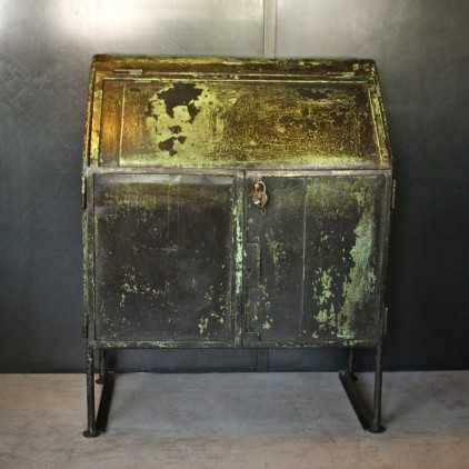Industrial worker locker original patina