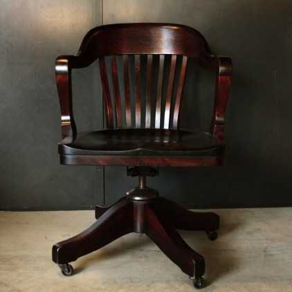 American mahogany desk chair