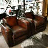 "Club armchair (cubic) ""chicago""sheep leather"