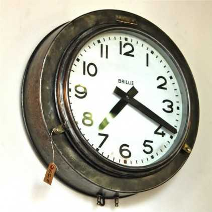 Ancienne Horloge industrielle BRILLIE