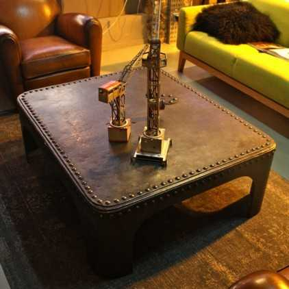 Riveted industrial coffee table