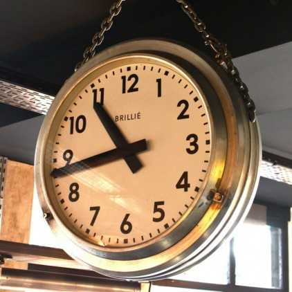 Industrial Clock BRILLIE double sided