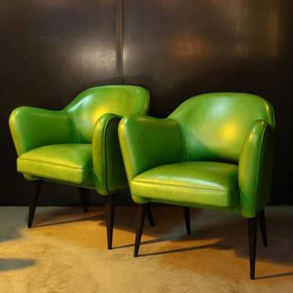 Bebop armchair - French design 50's - Green Lime