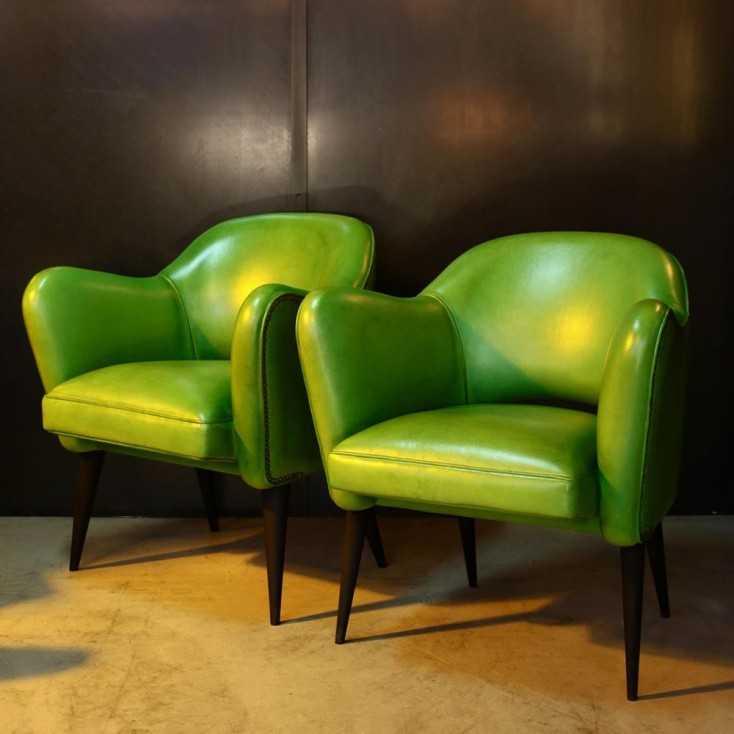 Fauteuil Bebop - design années 50 - Green Lime