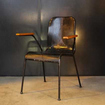 1950s' perforated metal desk chair
