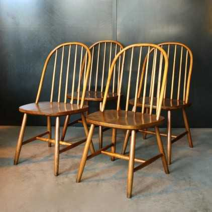Chaises Vintage style Ercol