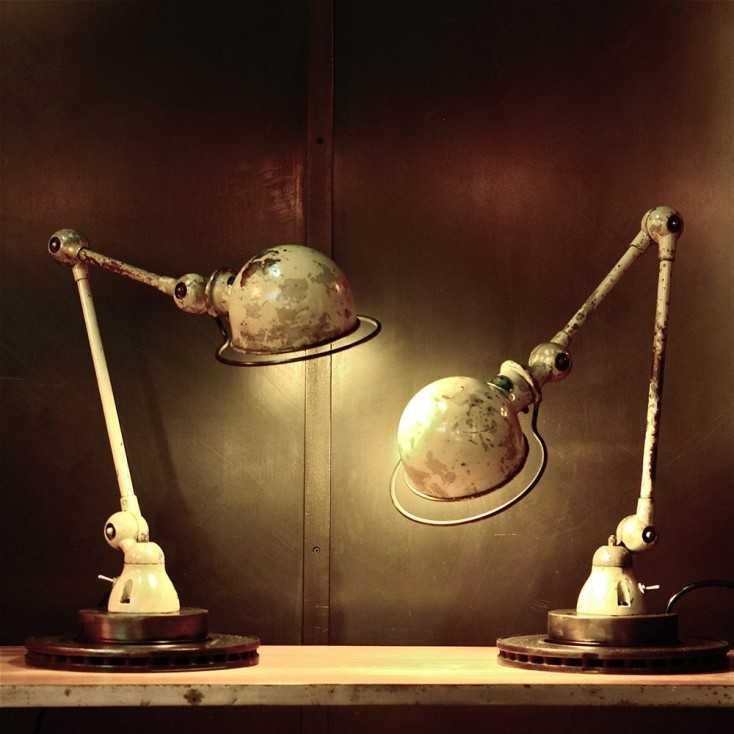 Lampe industrielle JIELDE 2 bras