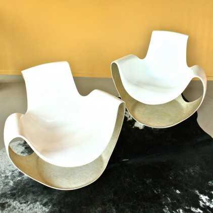 """""""ALBATROS"""" french chair by Daniel QUARANTE for AIRBORNE, circa 1970"""