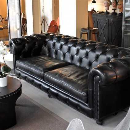 Canapé Chesterfield cuir